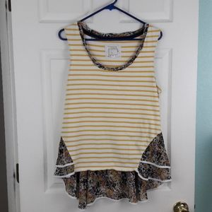 Anthropologie's Postmark Yellow White Floral Top